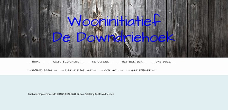 Screenshot oude website de downdriehoek